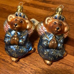 Boyd's Bears Collectible Glass Ornaments